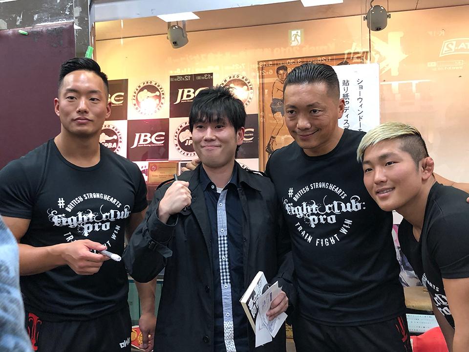 尊敬する上海進出したプロレス団体「OWE」のスーパーユニット『#STRONGHEARTS』のみなさんと。